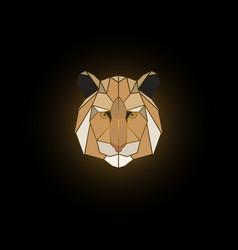 tiger head polygonal animal vector image