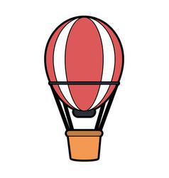 Hot air balloon icon image vector