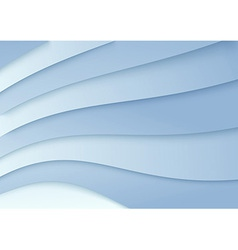 Wavy background in blue color - template vector image