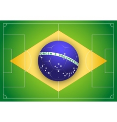 Brazilian flag and championship of football 2014 vector