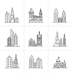 Cityscape icons vector