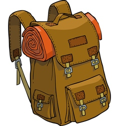 Camping backpack vector