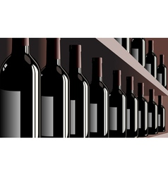 wine bottles shelf store winery vector image