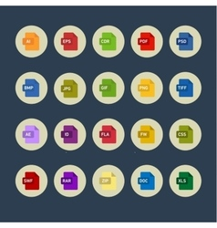 Icons graphics packages programs into flat style vector