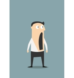Shocked businessman with open mouth vector