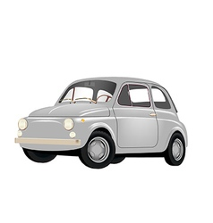 Small retro car vector