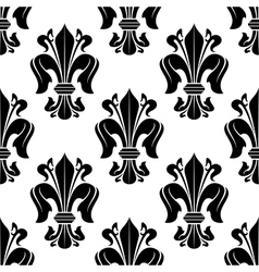 Black and white victorian floral pattern vector