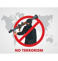No terrorism stop terror sign anti terrorism vector