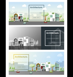 Architecture background cityscape banner 4 vector