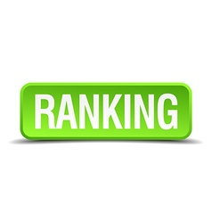 Ranking green 3d realistic square isolated button vector