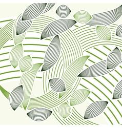 Abstract green foliage vector