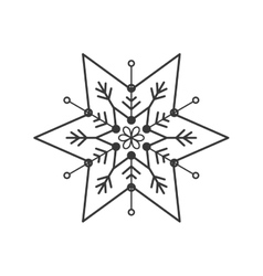 Snowflake icon winter design graphic vector