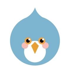 Blue bird flat icon vector