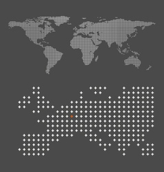 abstract crossing world map vector image