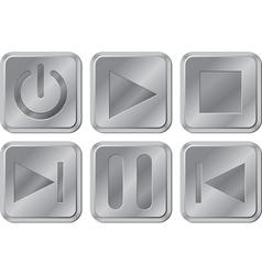 Aluminium Media Buttons vector image vector image