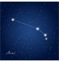 Aries constellation zodiac vector image