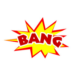 Bang icon pop art style vector