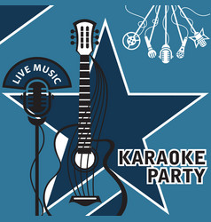 banner for karaoke vector image