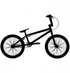 BMX silhouette vector image