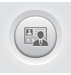 Business profile icon vector