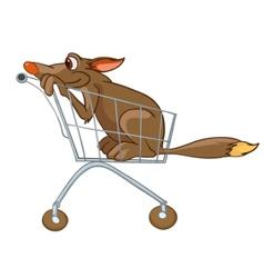 cartoon character dog vector image