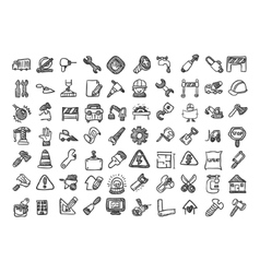 Construction cartoon icon set vector image vector image