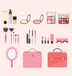 Cosmetic Equipments Set vector image vector image