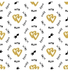 Creative artistic seamless pattern hand-drawn gold vector