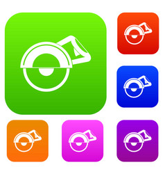 cut off machine set color collection vector image vector image