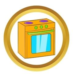 Gas stove icon vector