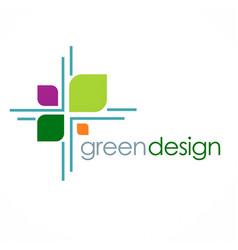 green leaf design logo vector image
