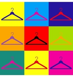 Hanger sign pop-art style icons set vector