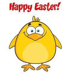 Happy Smiling Yellow Chick Cartoon vector image vector image