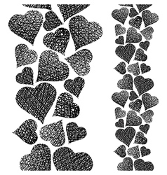Hearts seamless pattern vertical composition Love vector image vector image