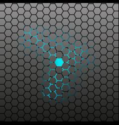 hexagonal tile background vector image