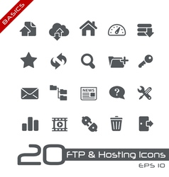 Hosting Icons Basics Series vector image vector image