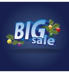 Inscription big sale christmas decoration vector