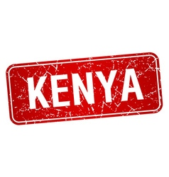 Kenya red stamp isolated on white background vector image vector image