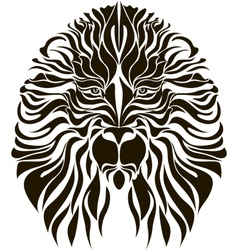 Lion head in black vector image vector image