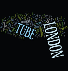 London tube text background word cloud concept vector