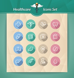 medical flat icons vector image vector image