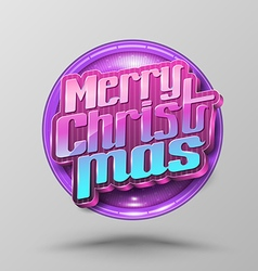 Merry christmas lettering circle modern vector
