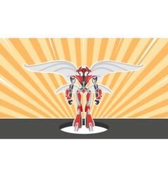 Military robot vector image