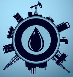 Oil industry lable vector image