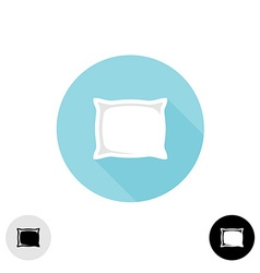 Pillow simple sign vector