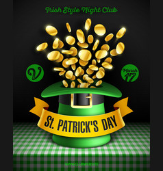 Saint patricks day party poster design 17 march vector