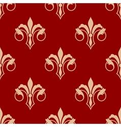 Seamless floral fleur de lis pattern vector