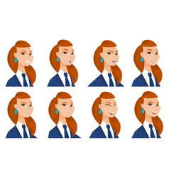 set of stewardess characters vector image vector image