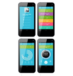 Simple template interface for phone vector image vector image