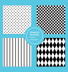 Sketch set of seamless geometric ornaments vector image
